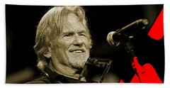 Kris Kristofferson Collection Beach Towel by Marvin Blaine