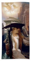 Perseus And Andromeda Beach Sheet by Frederic Leighton