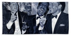 The Rat Pack Collection Beach Sheet by Marvin Blaine