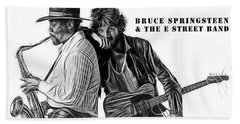 Bruce Springsteen Clarence Clemons Collection Beach Towel by Marvin Blaine