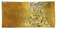 Portrait Of Adele Bloch-bauer I Beach Towel by Gustav Klimt