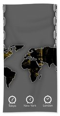 World Map Collection Beach Sheet by Marvin Blaine