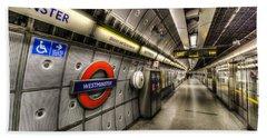 Underground London Beach Towel by David Pyatt