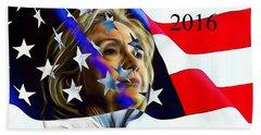 Hillary Clinton 2016 Collection Beach Towel by Marvin Blaine
