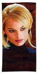 Margot Robbie Painting Beach Towel by Best Actors