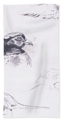 Pheasants Beach Towel by Archibald Thorburn