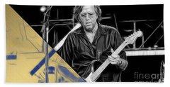 Eric Clapton Collection Beach Towel by Marvin Blaine
