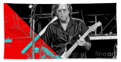 Eric Clapton Collection Beach Sheet by Marvin Blaine