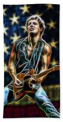 Bruce Springsteen Collection Beach Towel by Marvin Blaine