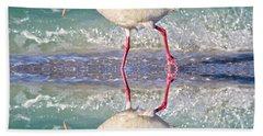 A Reflective Walk Beach Towel by Betsy Knapp
