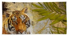 A Taste Of Africa Tiger Beach Towel by Mindy Sommers