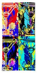 Abstract Martini's Beach Towel by Jon Neidert