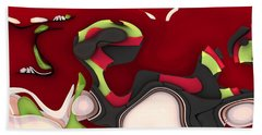 Abstrakto - 95a Beach Towel by Variance Collections