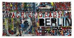 Achtung Baby Beach Towel by Frank Van Meurs