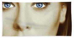 Adele Painting Circle Pattern 1 Beach Towel by Tony Rubino