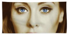 Adele Painting Circle Pattern 2 Beach Towel by Tony Rubino