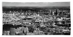 Aerial View Of London 6 Beach Towel by Mark Rogan