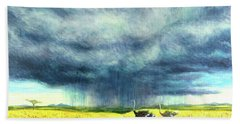 African Storm Beach Towel by Tilly Willis