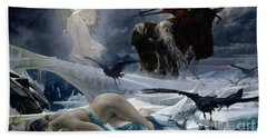 Ahasuerus At The End Of The World Beach Towel by Adolph Hiremy Hirschl