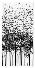 Aki Monochrome Beach Sheet by Cynthia Decker