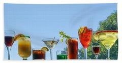 Alcoholic Beverages - Outdoor Bar Beach Towel by Nikolyn McDonald