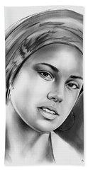 Alicia Keys 2 Beach Sheet by Greg Joens