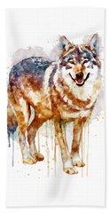 Alpha Wolf Beach Towel by Marian Voicu
