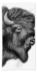 American Bison Beach Towel by Greg Joens