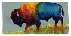 American Buffalo IIi Beach Towel by Hailey E Herrera