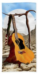 An Acoustic Nightmare Beach Towel by Mike McGlothlen