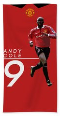Andy Cole Beach Towel by Semih Yurdabak