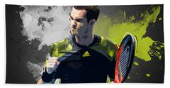 Andy Murray Beach Towel by Semih Yurdabak
