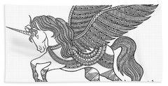 Animal Unicorn Beach Towel by Neeti Goswami