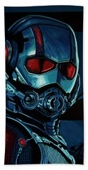 Ant Man Painting Beach Towel by Paul Meijering