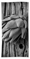 Artichoke In Black And White Beach Towel by Garry Gay