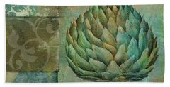 Artichoke Margaux Beach Towel by Mindy Sommers