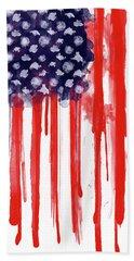 American Spatter Flag Beach Sheet by Nicklas Gustafsson