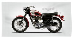 Triumph Bonneville 1970 Beach Towel by Mark Rogan
