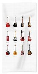 Guitar Icons No1 Beach Towel by Mark Rogan
