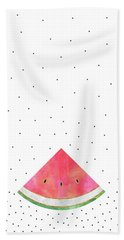 Pretty Watermelon Beach Towel by Elisabeth Fredriksson