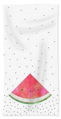 Pretty Watermelon Beach Sheet by Elisabeth Fredriksson