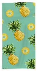 Set Of Pineapples Beach Sheet by Vitor Costa