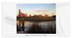 Birds And Fun At Butler Park Austin - Silhouettes 1 Poster And Greeting Card Beach Towel by Felipe Adan Lerma
