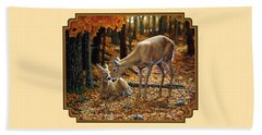 Whitetail Deer - Autumn Innocence 2 Beach Sheet by Crista Forest