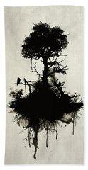 Last Tree Standing Beach Towel by Nicklas Gustafsson