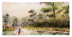 Wacissa River  Beach Towel by Bill Holkham
