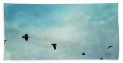 As The Ravens Fly Beach Sheet by Priska Wettstein
