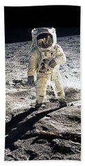 Astronaut Beach Sheet by Photo Researchers