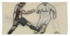 Athletic Club  Vs Real Madrid Beach Towel by Don Kuing