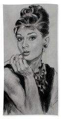 Audrey Hepburn Beach Sheet by Ylli Haruni